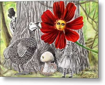 Alice In Wonderland 3 Metal Print by Keiko Olds