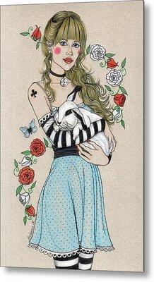 Alice Metal Print by Snezana Kragulj