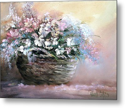 Alice's Bouquet Metal Print by Sally Seago