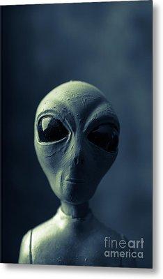 Alien Encounter Metal Print