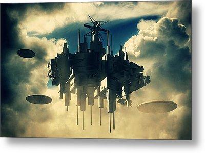Alien Invasion By Raphael Terra Metal Print