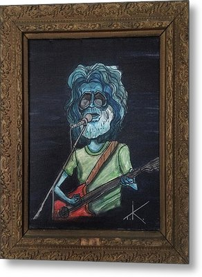 Alien Jerry Garcia Metal Print by Similar Alien