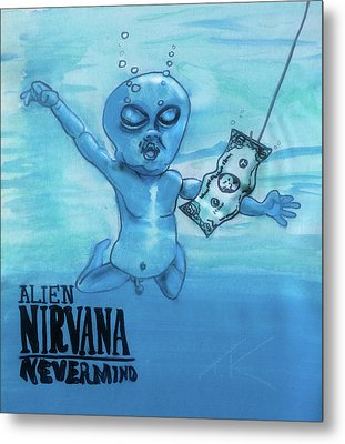 Alien Nevermind Metal Print by Similar Alien