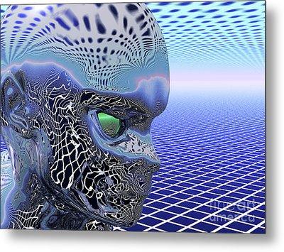 Alien Stare Metal Print