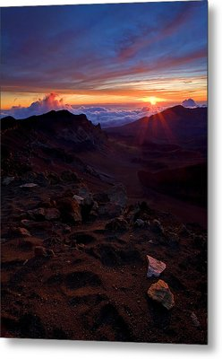 Alien Sunrise Metal Print by Mike  Dawson
