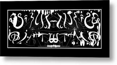 Metal Print featuring the photograph Alien Symphony Musical Score From Another Planet by Robert Kernodle