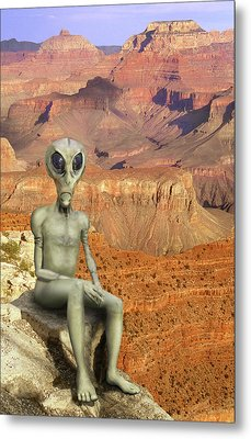 Alien Vacation - Grand Canyon Metal Print by Mike McGlothlen