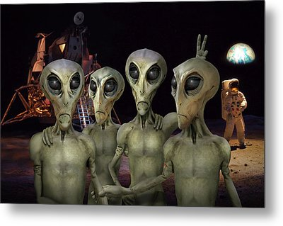 Alien Vacation - Kennedy Space Center Metal Print by Mike McGlothlen