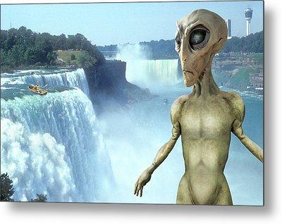 Alien Vacation - Niagara Falls Metal Print by Mike McGlothlen