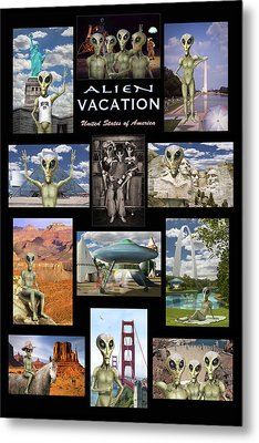 Alien Vacation - Poster Metal Print by Mike McGlothlen