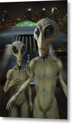 Alien Vacation - The Arrival  Metal Print by Mike McGlothlen