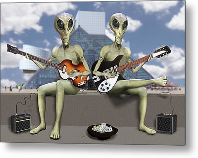 Alien Vacation - Trying To Make Ends Meet Metal Print by Mike McGlothlen