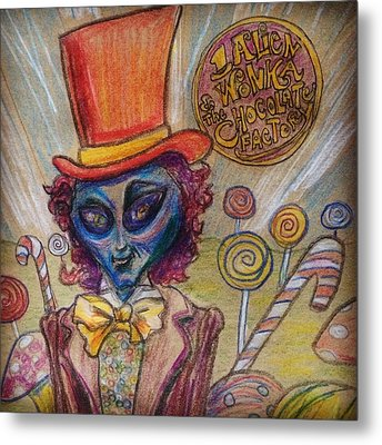 Alien Wonka And The Chocolate Factory Metal Print by Similar Alien