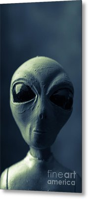 Alien X-files Phone Case Metal Print by Edward Fielding
