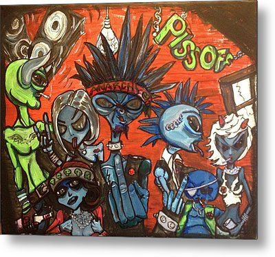 Aliens With Nefarious Intent Metal Print by Similar Alien