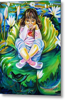 Metal Print featuring the painting Alissa by Anna  Duyunova