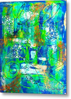 All A Whirl Metal Print by Julie Hoyle