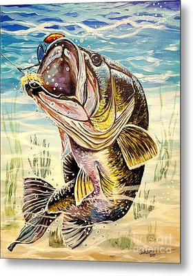 All About The Bass Metal Print by Sandra Lett