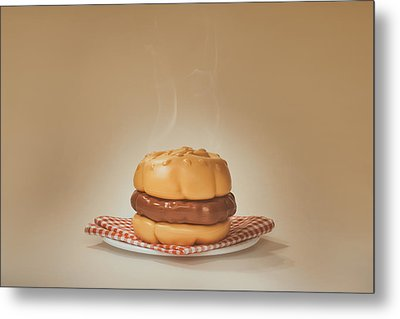 All-american Burger Metal Print by Scott Norris