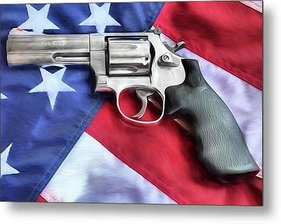 All American Firepower Metal Print by JC Findley