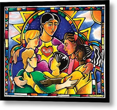 All Are Welcome - Mmaaw Metal Print by Br Mickey McGrath OSFS