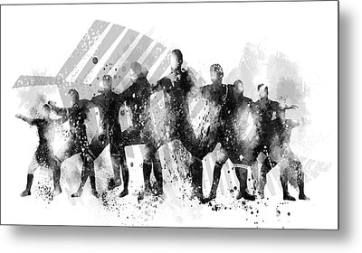 All Blacks Haka Metal Print