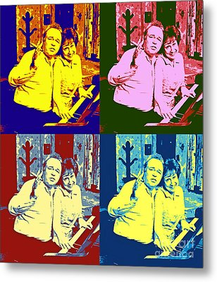 All In The Family Pop Art Metal Print