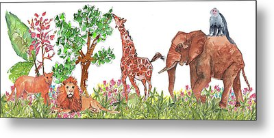 All Is Well In The Jungle Metal Print by Kathleen McElwaine