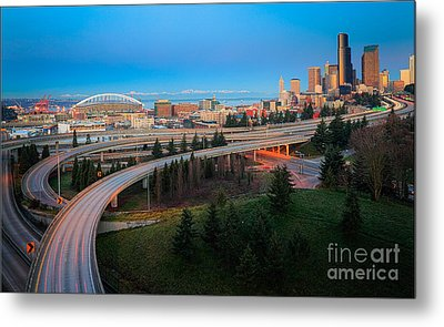 All Roads Lead To Seattle Metal Print