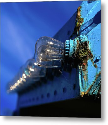 Metal Print featuring the photograph All The Blue by Lora Lee Chapman