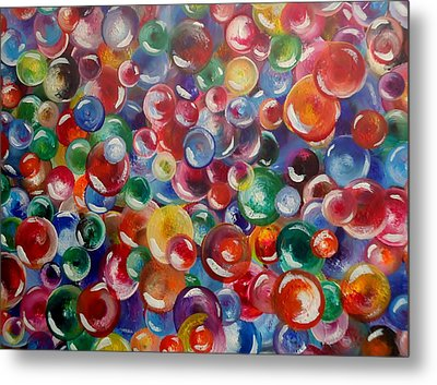 All The Lost Marbles Metal Print by Leigh Anna Kay