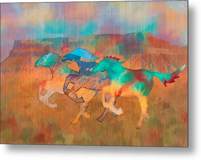 All The Pretty Horses Metal Print by Christina Lihani