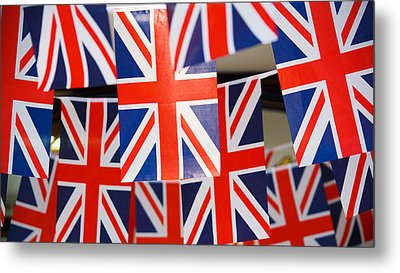 Metal Print featuring the photograph All Things British by Digital Art Cafe