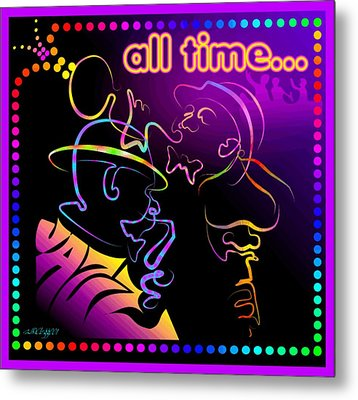 All Time Jazz Metal Print by William R Clegg