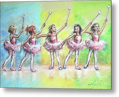 All Together Now...first Ballet Recital Metal Print by Laurie Shanholtzer