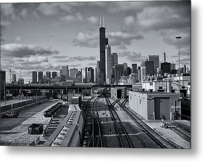 Metal Print featuring the photograph All Tracks Lead To Chicago by Sheryl Thomas