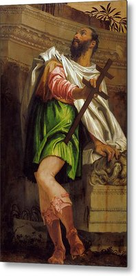 Allegory Of Navigation With A Cross Staff Averroes Metal Print