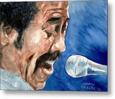 Metal Print featuring the painting Allen Toussaint by Andrew Gillette