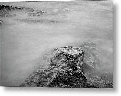 Metal Print featuring the photograph Allens Pond Xii Bw by David Gordon
