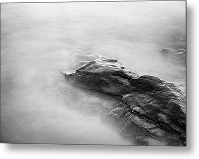 Metal Print featuring the photograph Allens Pond Xv Bw by David Gordon