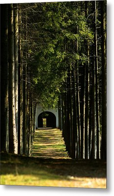 Alley At The Monastery Metal Print by Emanuel Tanjala