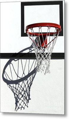 Metal Print featuring the photograph Alley Hoop by Stephen Mitchell