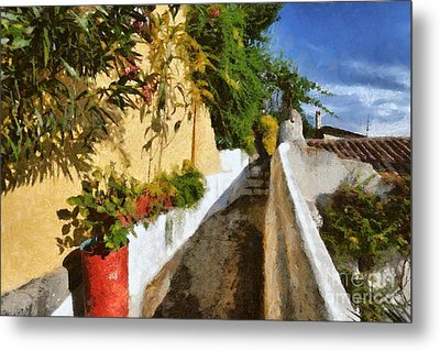 Alley In Plaka Metal Print by George Atsametakis