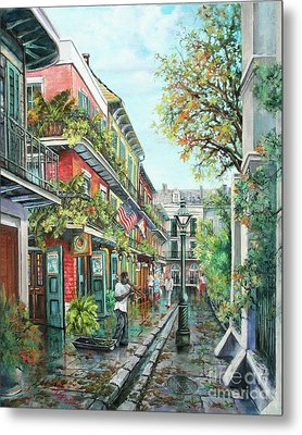 Alley Jazz Metal Print