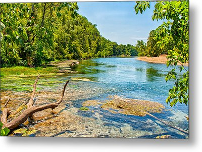 Metal Print featuring the photograph Alley Springs Scenic Bend by John M Bailey