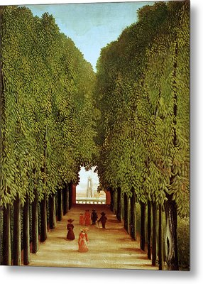Alleyway In The Park Metal Print by Henri Rousseau