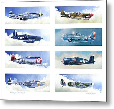 Allied Fighters Of The Second World War Metal Print by Douglas Castleman