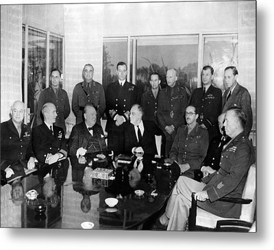 Allied Nations War Strategy Conference Metal Print by Everett