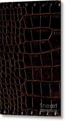 Alligator Look Abstract Metal Print by Marsha Heiken