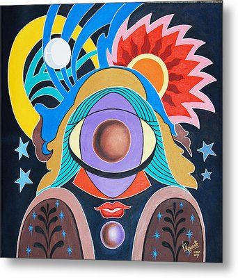 Metal Print featuring the painting Almighty by Ragunath Venkatraman